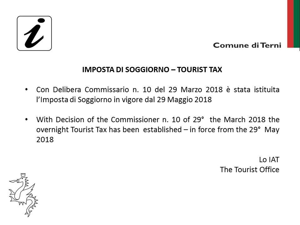 Imposta di soggiorno – Comune di Terni | Sito ufficiale del Turismo ...