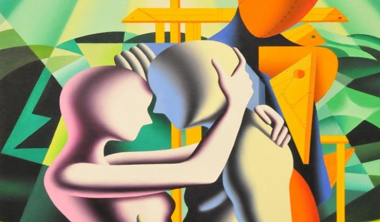 Mark Kostabi a Terni: tra pittura musica ed incontri