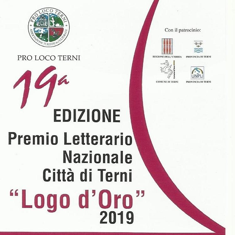 """Gold Logo 2019"": National Literary Award, City of Terni"